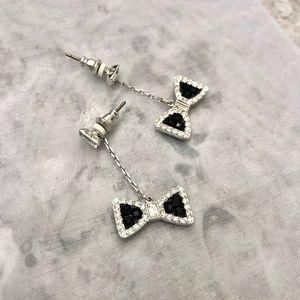 Swarovski Jewelry - swarovski black crystal bow earrings